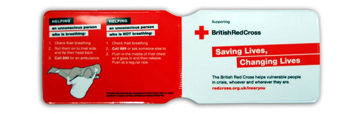 Red Cross oyster card holder