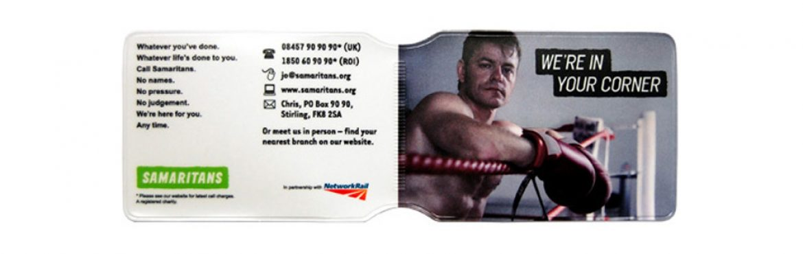 Samaritans oyster card holder